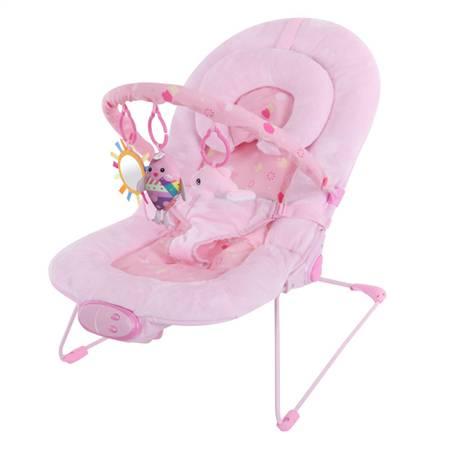 粉红超柔婴儿安抚摇椅