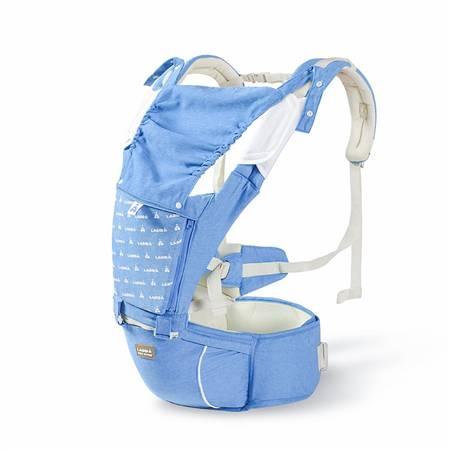 六合一单面绒背带腰凳(蓝色)