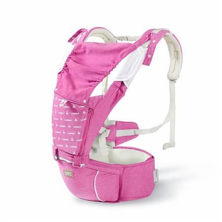 六合一单面绒背带腰凳(粉色)