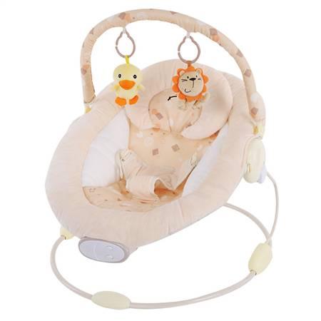 奶油色圆形婴儿安抚摇椅