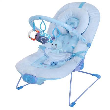 粉蓝超柔婴儿安抚摇椅